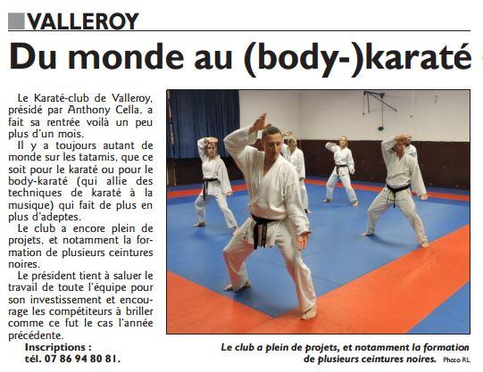 Karate presse du 12 octobre 2016